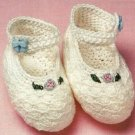 X991 Crochet PATTERN ONLY Dressy Baby Booties Shoes
