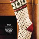 X961 Crochet PATTERN ONLY Fair Isle Christmas Stocking Pattern