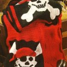 X311 Crochet PATTERN ONLY Pirate's Life Afghan Pattern Skull & Cross Bones