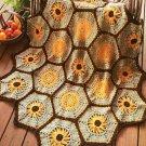 X381 Crochet PATTERN ONLY Sunflower Afghan Pattern