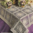 X574 Crochet PATTERN ONLY Spring Daisies Tablecloth Pattern