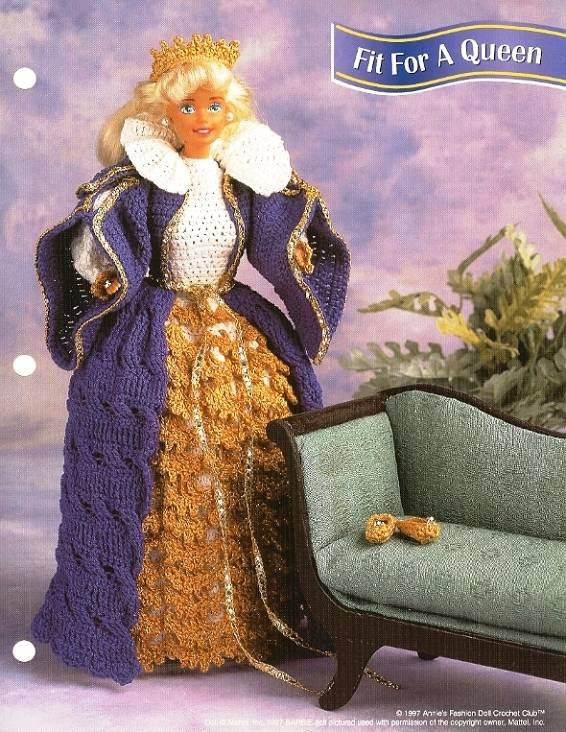 X385 Crochet PATTERN ONLY Fit for a Queen Fashion Doll Gown Ensemble Pattern