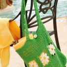 W132 Crochet PATTERN ONLY Spring Summer Daisy Tote Bag Carry-All Pattern
