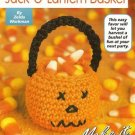 X716 Crochet PATTERN ONLY Mini Jack-O-Lantern Basket Ornament