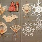 X332 Crochet PATTERN Book ONLY Ornamental Keepsakes 14 Christmas Ornaments Rare