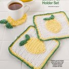 Y376 Crochet PATTERN ONLY Lemon Pot Holder and Coaster Set of Patterns