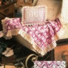 X874 Crochet PATTERN ONLY Baby Carriage Cover Afghan & Pillow Cover Pattern