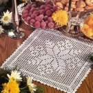Y083 Filet Crochet PATTERN ONLY Square Snowflake Doily