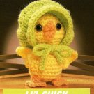 W101 Crochet PATTERN ONLY Li'l Chick Tiny Little Baby Chicken with Bonnet Patter