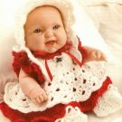 X675 Crochet PATTERN ONLY Christmas Baby Doll Outfit Set