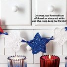 W054 Crochet PATTERN ONLY Patriotic Star Swag Pattern 4th of July Christmas