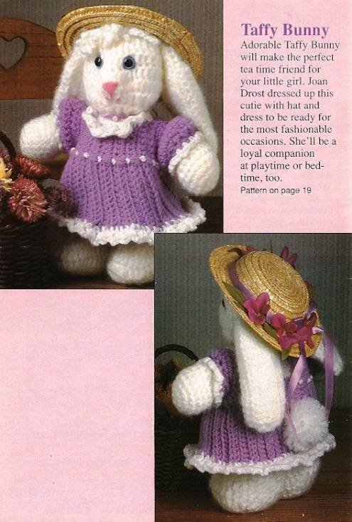 X695 Crochet PATTERN ONLY Taffy Bunny Rabbit Toy Doll Pattern