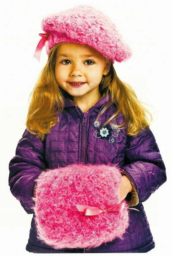 X880 Crochet PATTERN ONLY Child's Beret & Muff Pattern