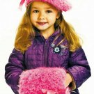 X880 Crochet PATTERN ONLY Child's Beret & Muff Pattern