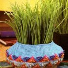 Y854 Crochet PATTERN ONLY Tiny Tapestry Beaded Basket Pattern
