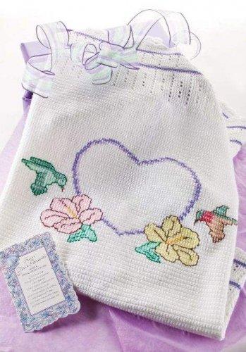 W049 Crochet PATTERN ONLY Hummingbirds & Hibiscus Wedding Throw Afghan