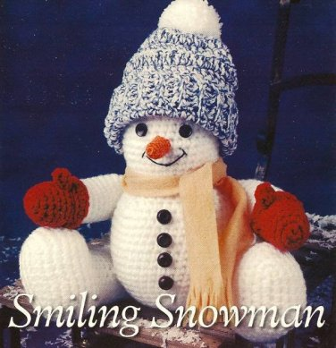 Y115 Crochet PATTERN ONLY Smiling Snowman Doll Toy Pattern