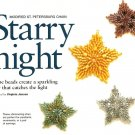 X266 Bead PATTERN ONLY Beaded Starry Night Sparkling Ornament or Earring Pattern