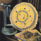 X295 Crochet PATTERN ONLY Round Daisy Pillow Pattern Flower