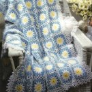 X445 Crochet PATTERN ONLY Good Morning Daisy Flower Afghan Pattern