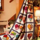 X264 Crochet PATTERN ONLY Crazy Quilt Mended Hearts Afghan Pattern