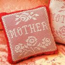 X781 Filet Crochet PATTERN ONLY Mother & Roses Pillow Pattern