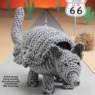 Y812 Crochet PATTERN ONLY Arnie Armadillo Doll Toy Pattern