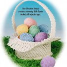 Y997 Crochet PATTERN ONLY Easter Basket and Eggs Patterns Ornaments