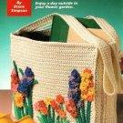 Y627 Crochet PATTERN ONLY Fantasy Flowers Tote Bag Pattern Cro-Tat Flowers