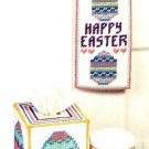 X468 Plastic Canvas PATTERN ONLY Easter Egg Door Hanger Tissue Box & Mug Pattern