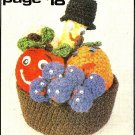 Y456 Crochet PATTERN ONLY Happy Fruit Bowl Banana Grapes Apple Orange Patterns