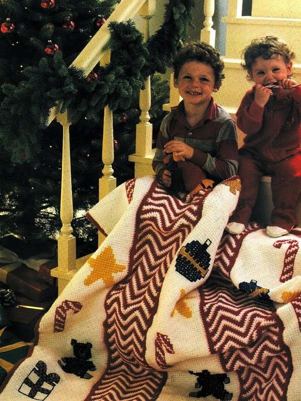 X776 Crochet PATTERN ONLY Christmas Holiday Afghan Pattern