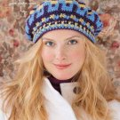 X755 Crochet PATTERN ONLY Snow Day Beret Hat Pattern & Bonus