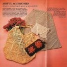 X909 Crochet PATTERN ONLY Tote, Scarf, Purse and Eyeglass Cover