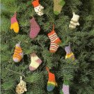 Y250 Crochet PATTERN ONLY Tiny Socks and Mittens Christmas Ornament Patterns