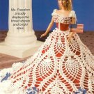 X918 Crochet PATTERN ONLY Fashion Doll Barbie Gown Let Freedom Ring Patriotic