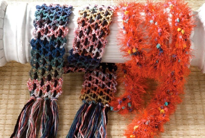 X837 Crochet PATTERN ONLY 3 Scarf Pattern Great for Gifts Easy Beginner