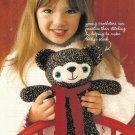 X751 Crochet PATTERN ONLY Wintertime Toy Teddy Bear Pattern