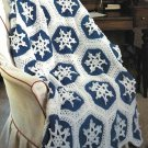 X274 Crochet PATTERN ONLY 2 Afghan Pattern Peppermint & Snowflakes