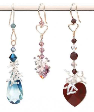 Y354 Bead PATTERN ONLY Lovely Heart Inspired Earrings Pattern