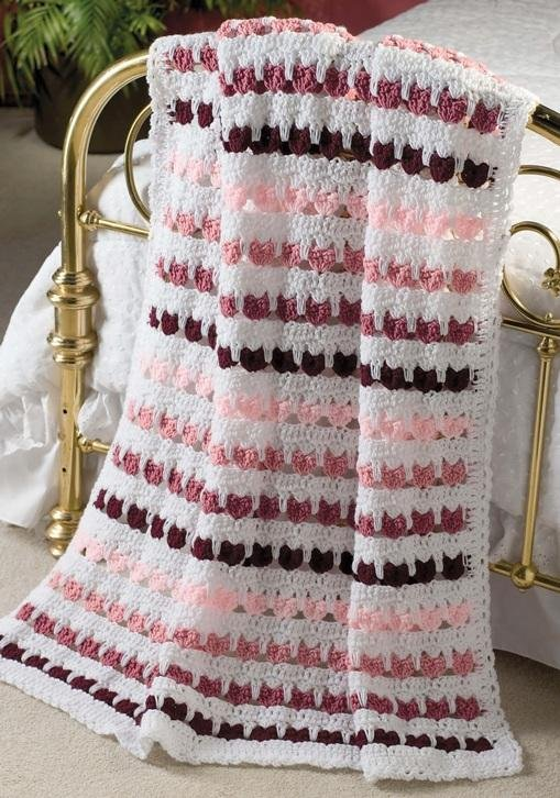 X182 Crochet PATTERN ONLY Valentines Hug Heart Afghan Pattern