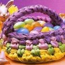 X156 Crochet PATTERN ONLY Rag Easter Basket Pattern