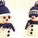 Y940 Crochet PATTERN ONLY Tiny Snow People Snowman Christmas Ornament Pattern