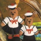 X878 Crochet PATTERN ONLY Teddy Bears in Sailor Suits Toy Dolls