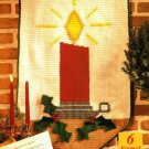 Y645 Crochet PATTERN ONLY Eternal Light Candle Wall Hanging Pattern