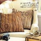 X240 Crochet PATTERN ONLY Knotty Pillow Pattern Looks like Wood