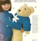 X444 Crochet PATTERN ONLY Loopy Scarf Set & Big Teddy + Outfits Patterns