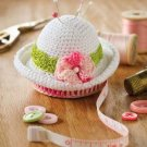 Y821 Crochet PATTERN ONLY Petite Spring Hat Pincushion & Tape Measure Pattern