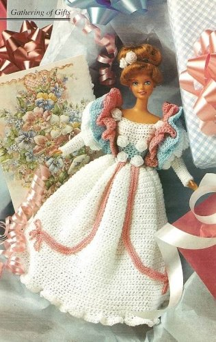 X568 Crochet PATTERN ONLY 1890�s Fashion Doll Party Gown Pattern Rare