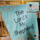 X654 Crochet PATTERN ONLY Lord's My Shepherd Baby Afghan Blanket